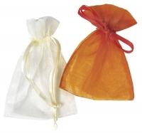 Organza-Säckchen orange 7,5x10 cm 6 Stück
