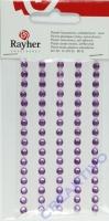 Rayher Plastik-Strassteine 5mm selbstklebend flieder 80St
