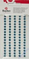 Rayher Plastik-Strassteine 5mm selbstklebend hellblau 80St