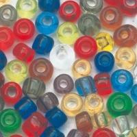 Rocailles 2 mm ø transparent gemischt