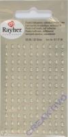Plastik-Halbperlen selbstklebend 3mm 120 Stück creme