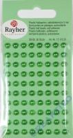 Plastik-Halbperlen selbstklebend 5mm 80 Stück grün