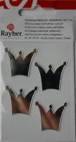 Rayher Acrylspiegel-Klebemotiv selbstklebend Krone 4 Stück