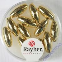 Plastik Oliven 6x14mm gold