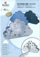 Bastel-Schablone Wolke 19,8x11,6 cm
