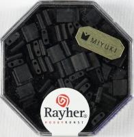 Miyuki Perle Tila opak gefrostet schwarz