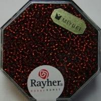 Premium Rocailles mit Silbereinzug 1,5mm feuerrot