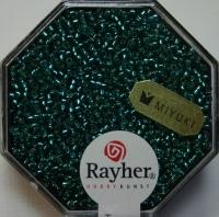 Premium Rocailles mit Silbereinzug 1,5mm lagune