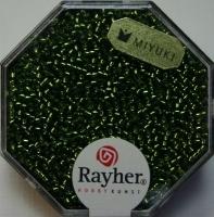 Premium Rocailles mit Silbereinzug 1,5mm olive