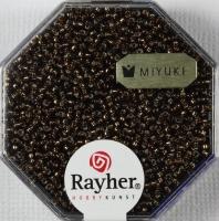 Premium Rocailles mit Silbereinzug 1,5mm mokka