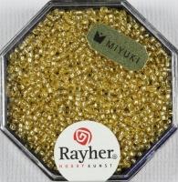 Premium Rocailles mit Silbereinzug 1,5mm helltopaz