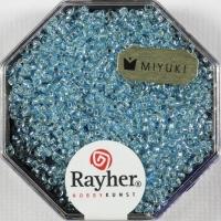 Premium Rocailles mit Silbereinzug 1,5mm aquamarin
