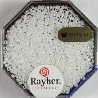 Premium Rocailles opak gelüstert 1,5mm alabasterweiß