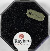 Premium Rocailles opak 1,5mm schwarz