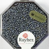 Premium Rocailles metallic gefrostet 1,5mm anthrazit