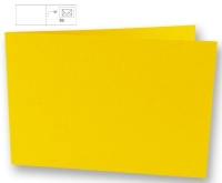 Karte B6 quer 232x168mm 220g sonnengelb