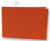 Karte B6 quer 232x168mm 220g orange (Restbestand)