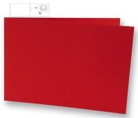Karte B6 quer 232x168mm 220g kardinalrot