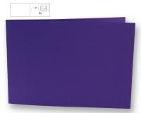Karte B6 quer 232x168mm 220g violett