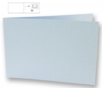 Karte B6 quer 232x168mm 220g babyblau