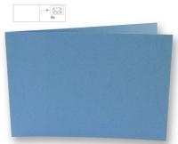 Karte B6 quer 232x168mm 220g azurblau