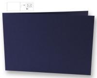 Karte B6 quer 232x168mm 220g nachtblau