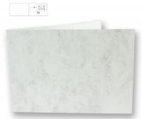 Karte B6 quer 232x168mm 200g marmor weiß (Restbestand)
