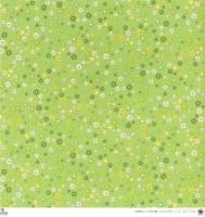 Scrapbooking Papier Green & White Miniflowers (Restbestand)