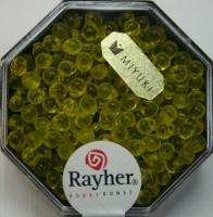 Miyuki-Perle-Drop transparent 3,4mm goldgelb