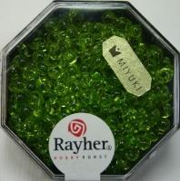 Miyuki-Perle-Drop transparent 3,4mm apfelgrün