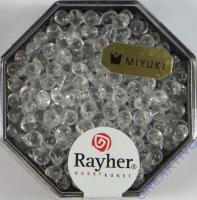 Miyuki-Perle-Drop transparent 3,4mm bergkristall