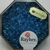 Miyuki-Perle-Drop transparent 3,4mm aquamarin