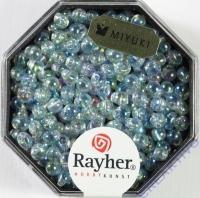 Miyuki-Perle-Drop transparent regenbogen 3,4mm mondstein