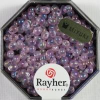 Miyuki-Perle-Drop transparent regenbogen 3,4mm rosé