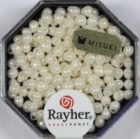 Miyuki-Perle-Drop opak gelüstert 3,4mm elfenbein