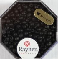 Miyuki-Perle-Drop opak gefrostet 3,4mm schwarz
