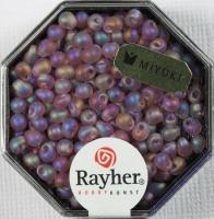 Miyuki-Perle-Drop transparent gefrostet 3,4mm amethyst