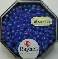 Miyuki-Perle-Drop transparent gefrostet 3,4mm royalblau