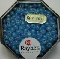Miyuki-Perle-Drop transparent gefrostet 3,4mm aquamarin