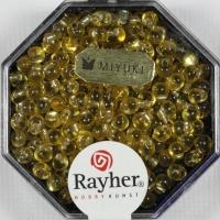 Miyuki-Perle-Drop transparent Silbereinzug 3,4mm helltopaz