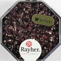 Miyuki-Perle-Drop transparent Silbereinzug 3,4mm amethyst