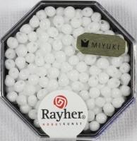 Miyuki-Perle-Drop opak 3,4mm weiß