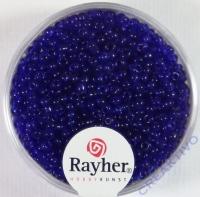 Rocailles 2 mm ø transparent dunkelblau