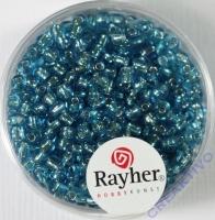 Rocailles 2,6mm ø mit Silbereinzug türkis