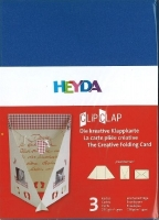 Clip Clap Aufsteller Hochformat mittelblau (Restbestand)