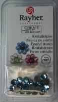 Hot-Fix Swarovski Kristallsteine aquamarin 4 mm  20 Stück