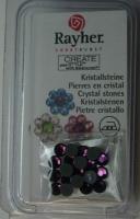 Hot-Fix Swarovski Kristallsteine amethyst 4 mm  20 Stück