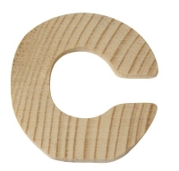 Rayher Holzbuchstabe für Buchstabenzug C