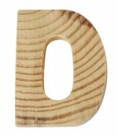 Rayher Holzbuchstabe für Buchstabenzug D