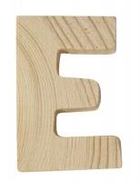 Rayher Holzbuchstabe für Buchstabenzug E